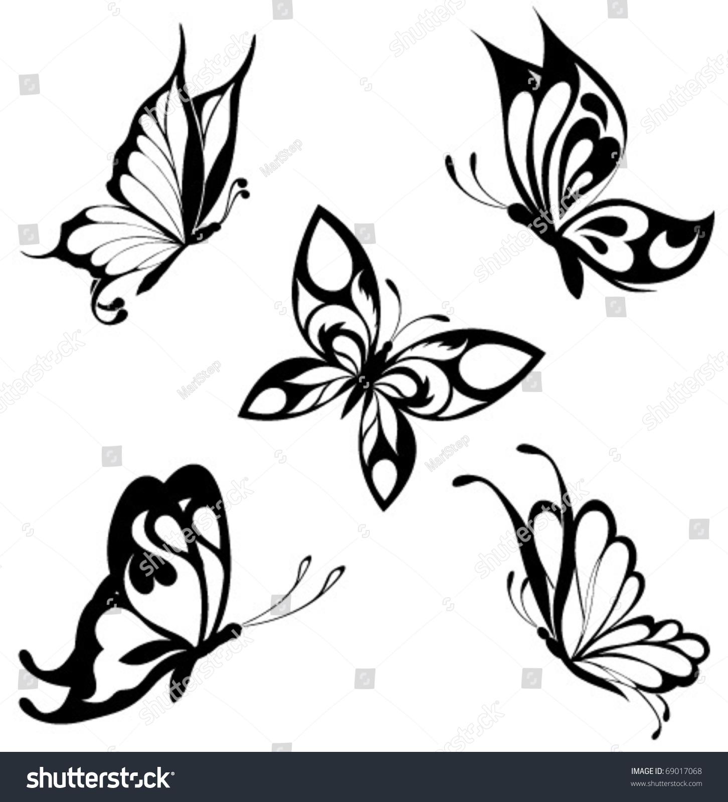 创意手绘插画蝴蝶