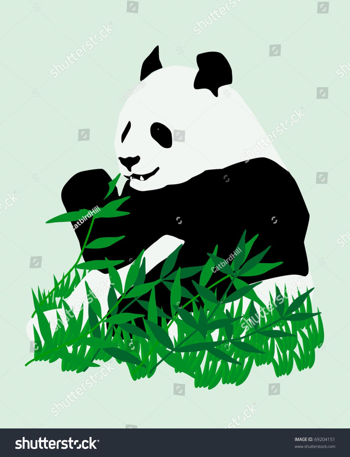 大熊猫-动物/野生生物,插图/剪贴图-海洛创意(hellorf