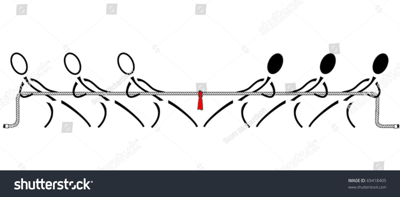 拔河比赛-插图/剪贴图,符号/标志-海洛创意(hellorf)