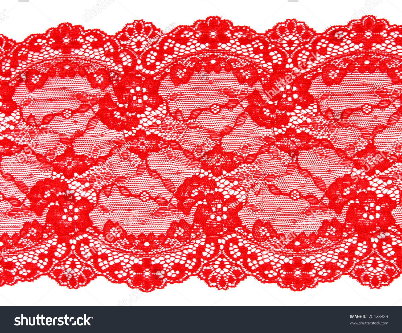 白色背景上的红色花边图案-背景/素材,交通运输-海洛