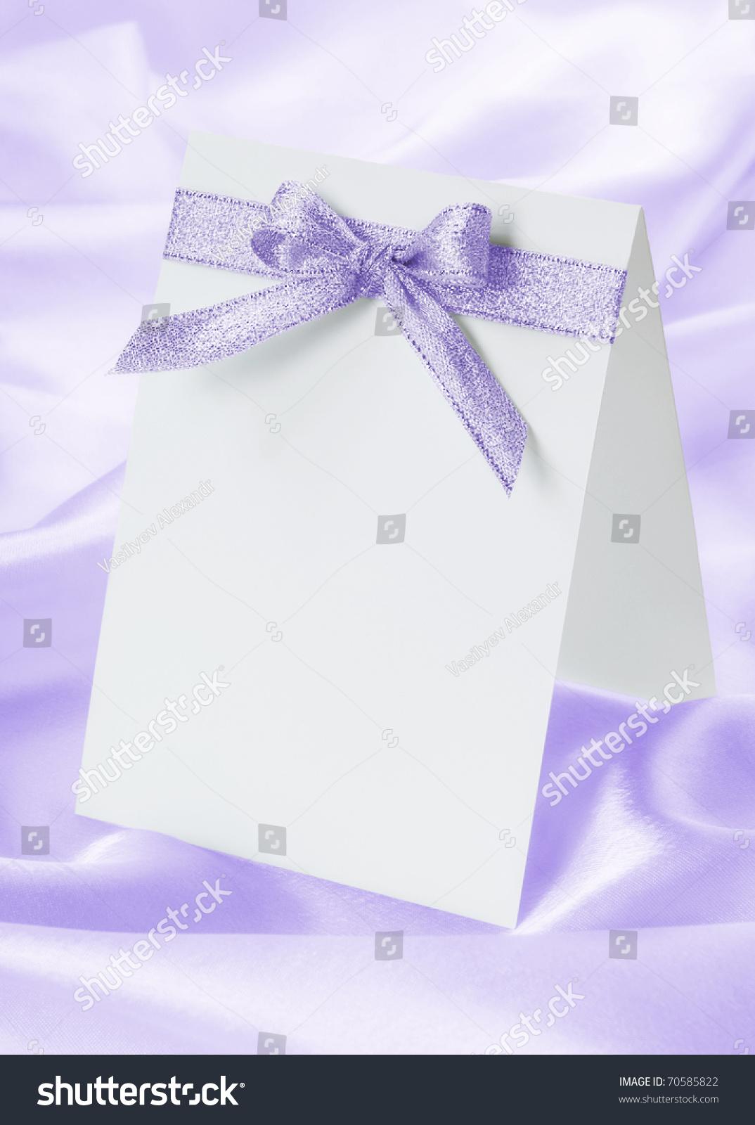 婚礼邀请蝴蝶结紫色背景-假期,背景/素材-海洛创意()