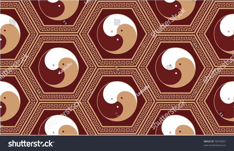 向量东方无缝砖-背景/素材,插图/剪贴图-海洛创意()-.