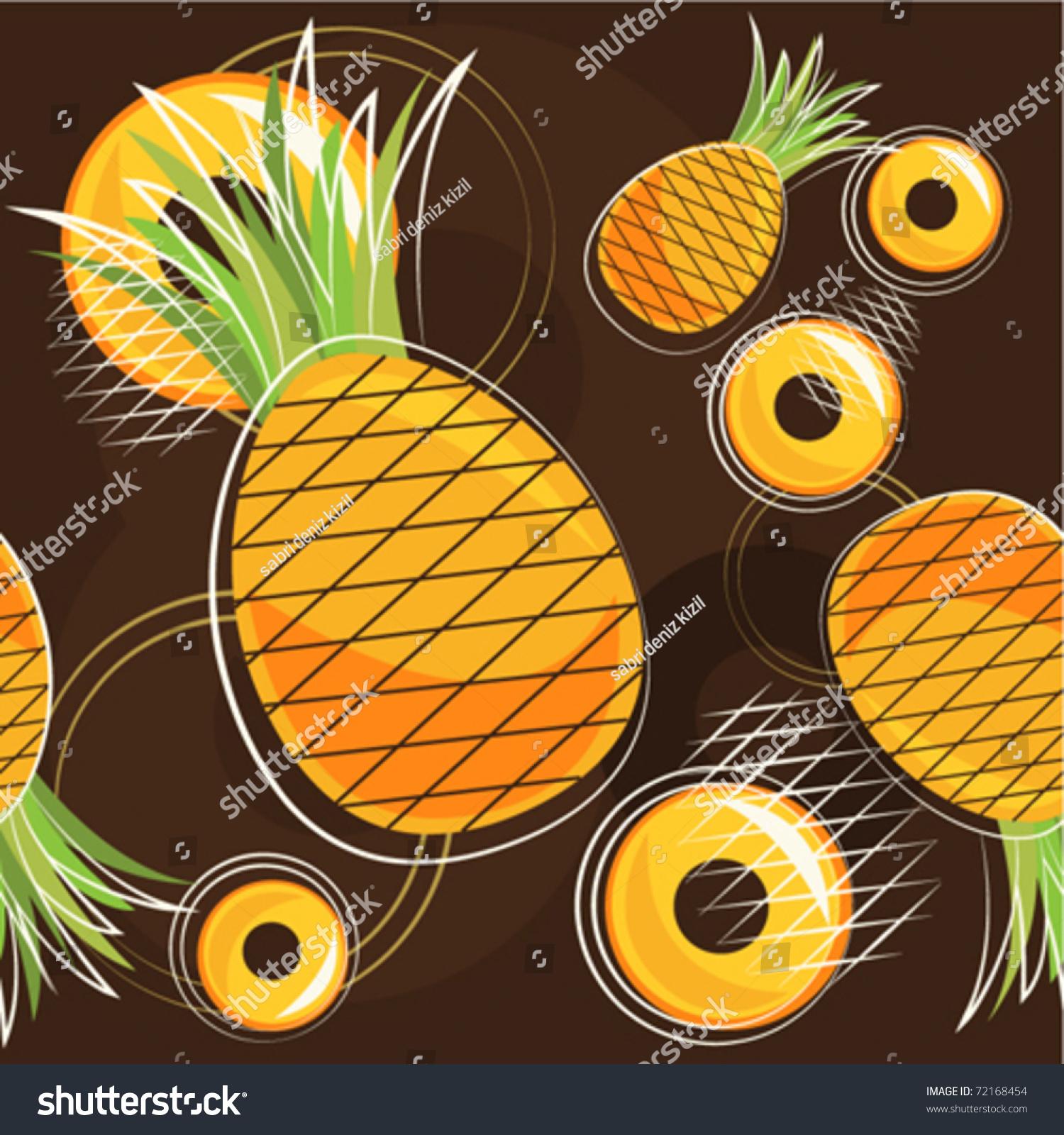 矢量模式的菠萝-食品及饮料