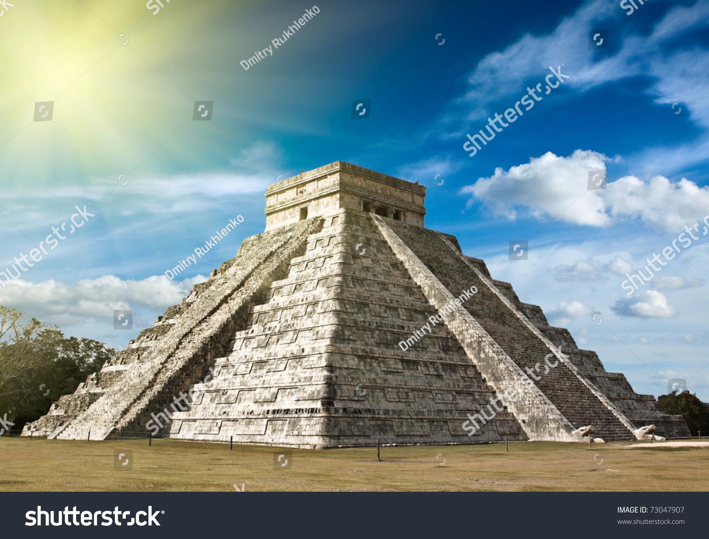 墨西哥奇琴伊察anicent玛雅金字塔-公园/户外
