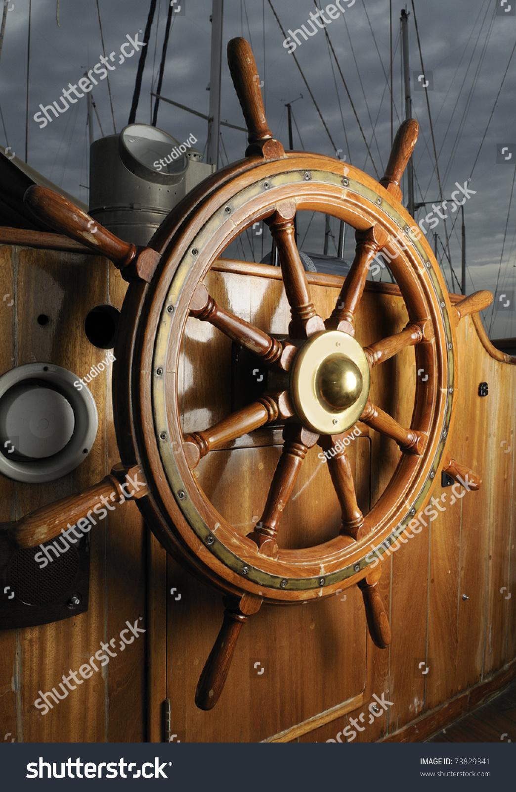 方向盘帆船-交通运输,复古风格-海洛创意(hellorf)--.
