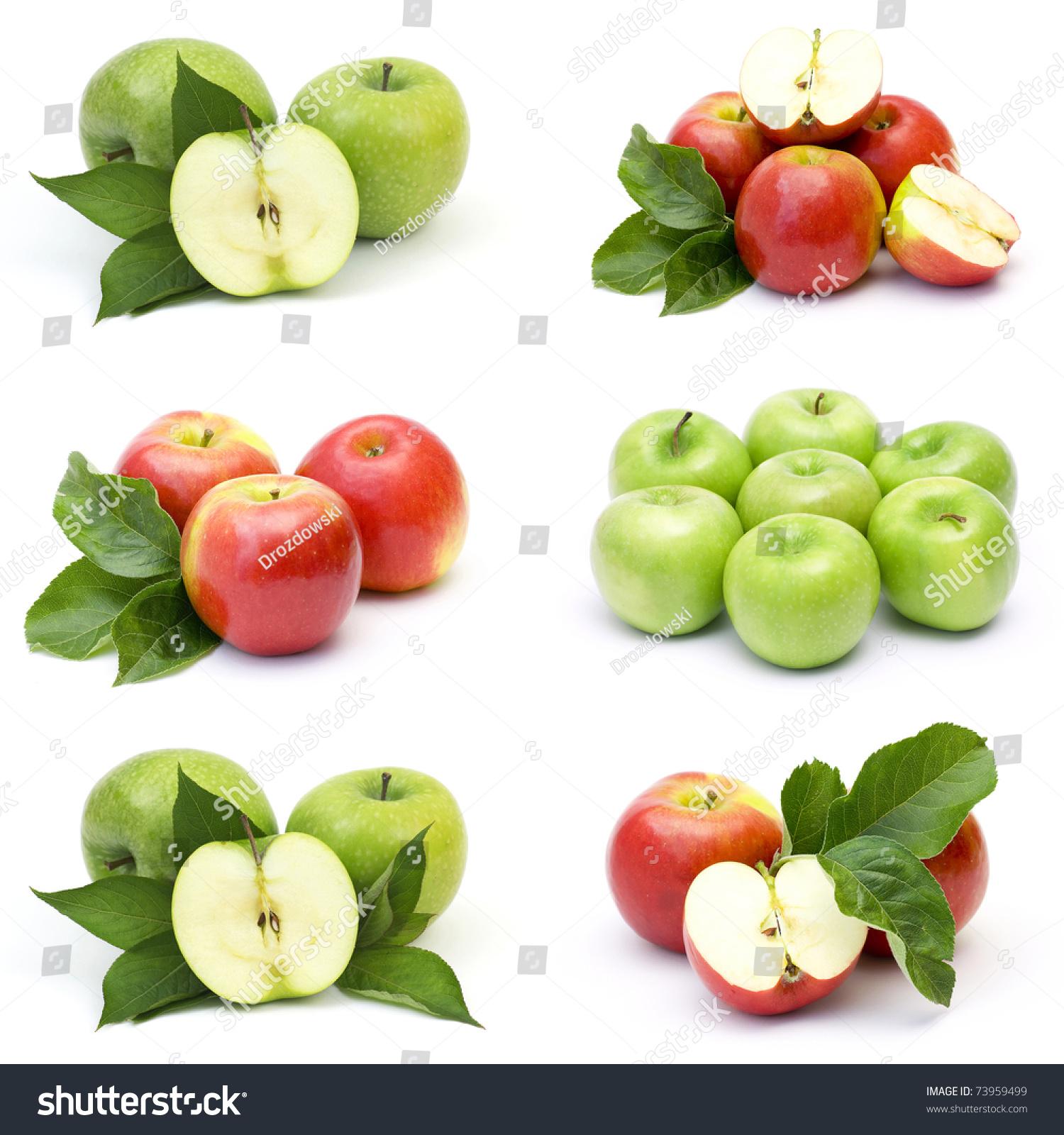 新鲜苹果水果的集合-其它