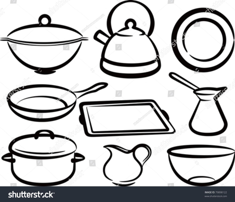 厨房手绘图片创意