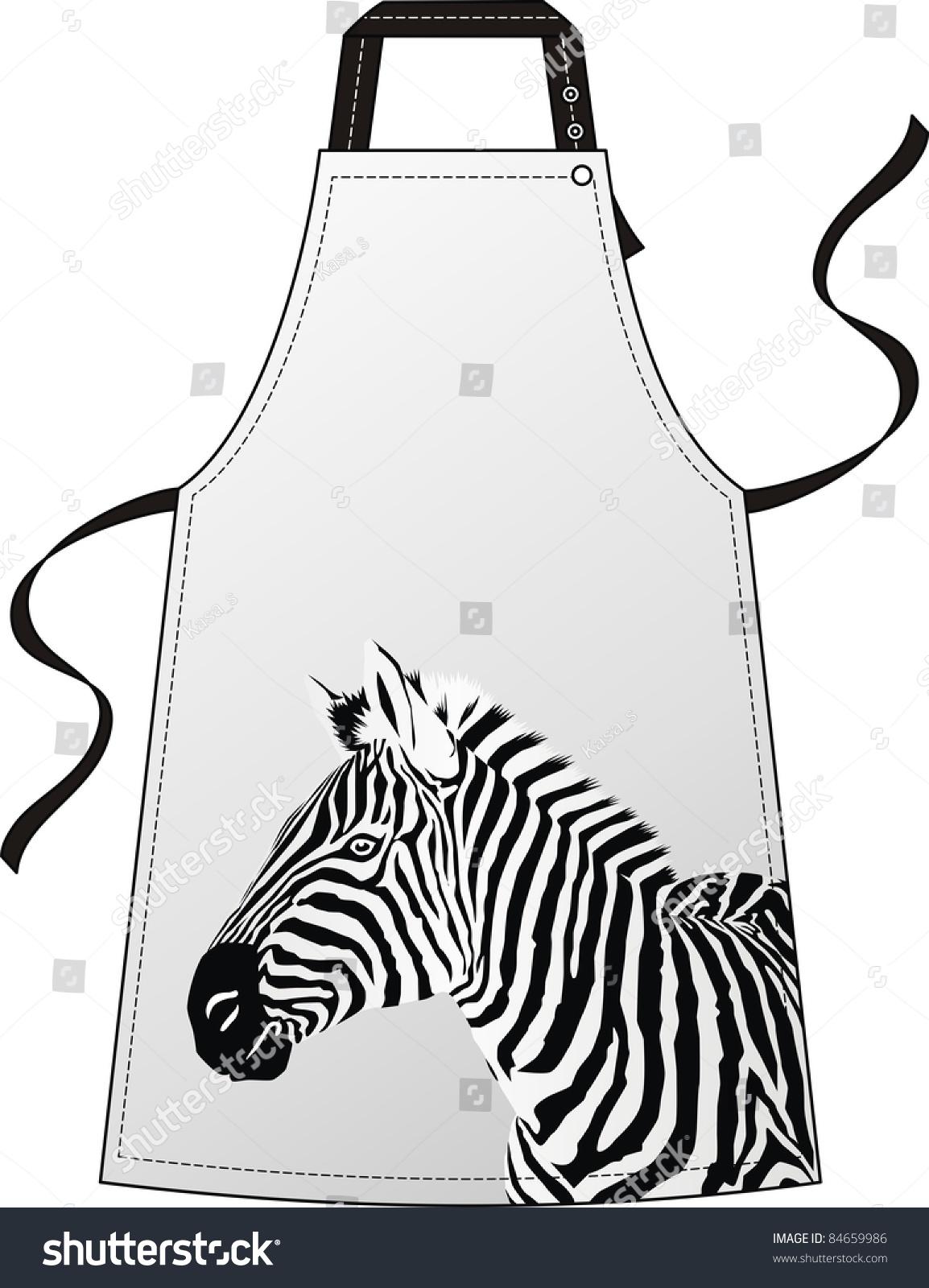 围裙和一头斑马的形象-美容/时装服饰,动物/野生生物