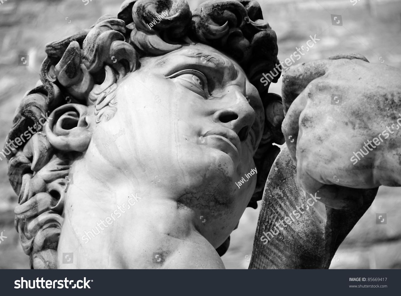 米开朗基罗的大卫雕像在佛罗伦萨