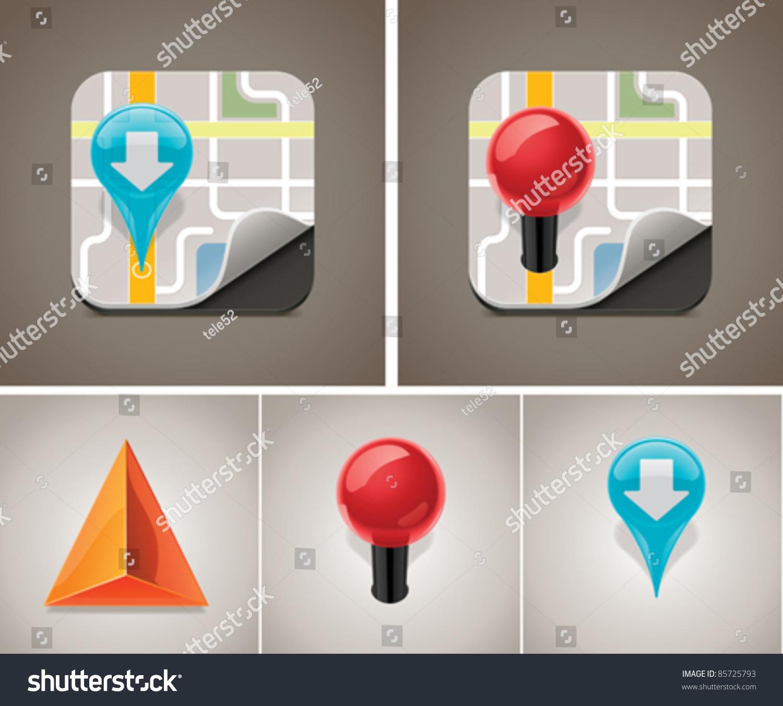 矢量地图图标设置-科技,符号/标志-海洛创意(hellorf)