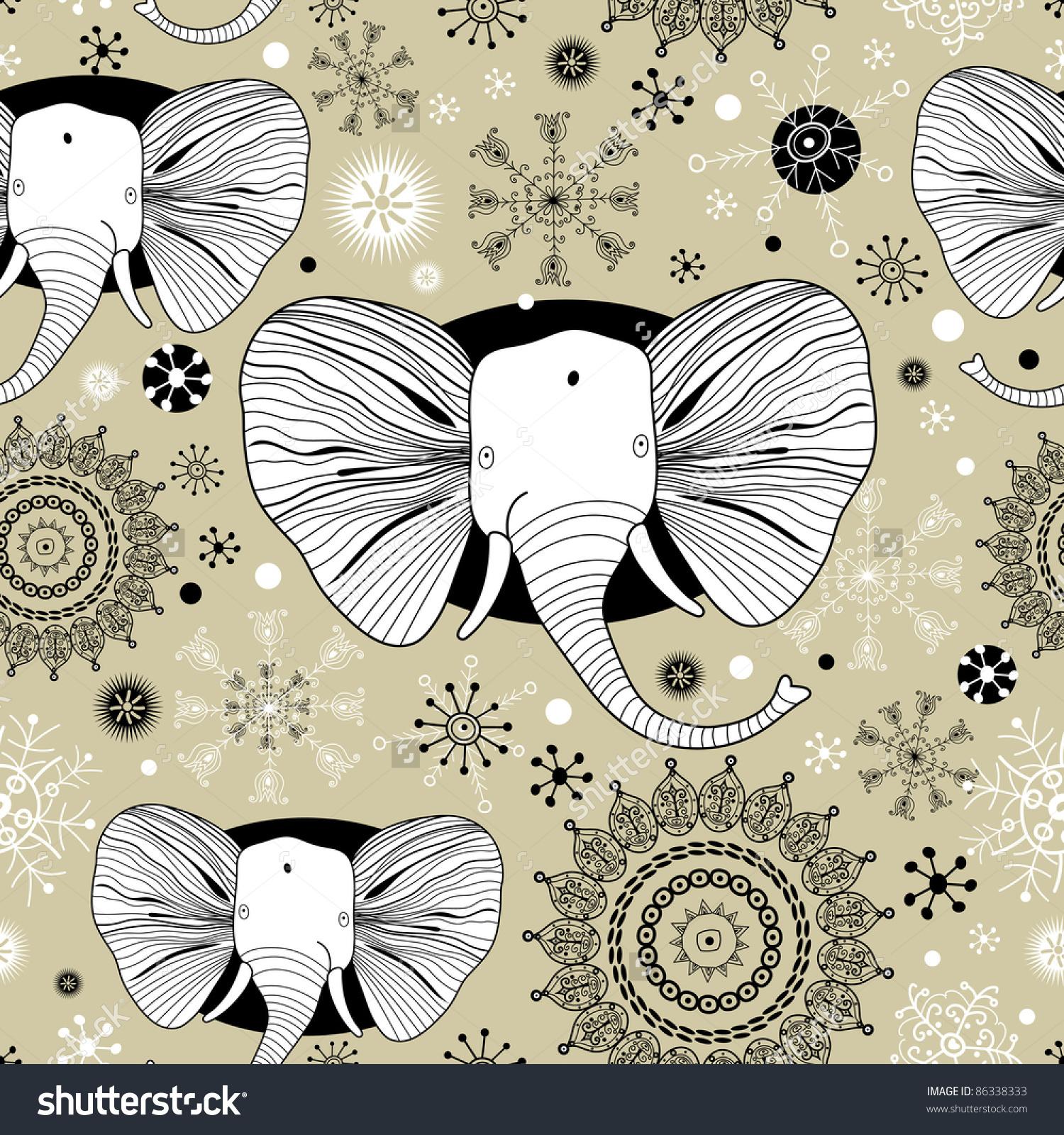 冬天动物背景图