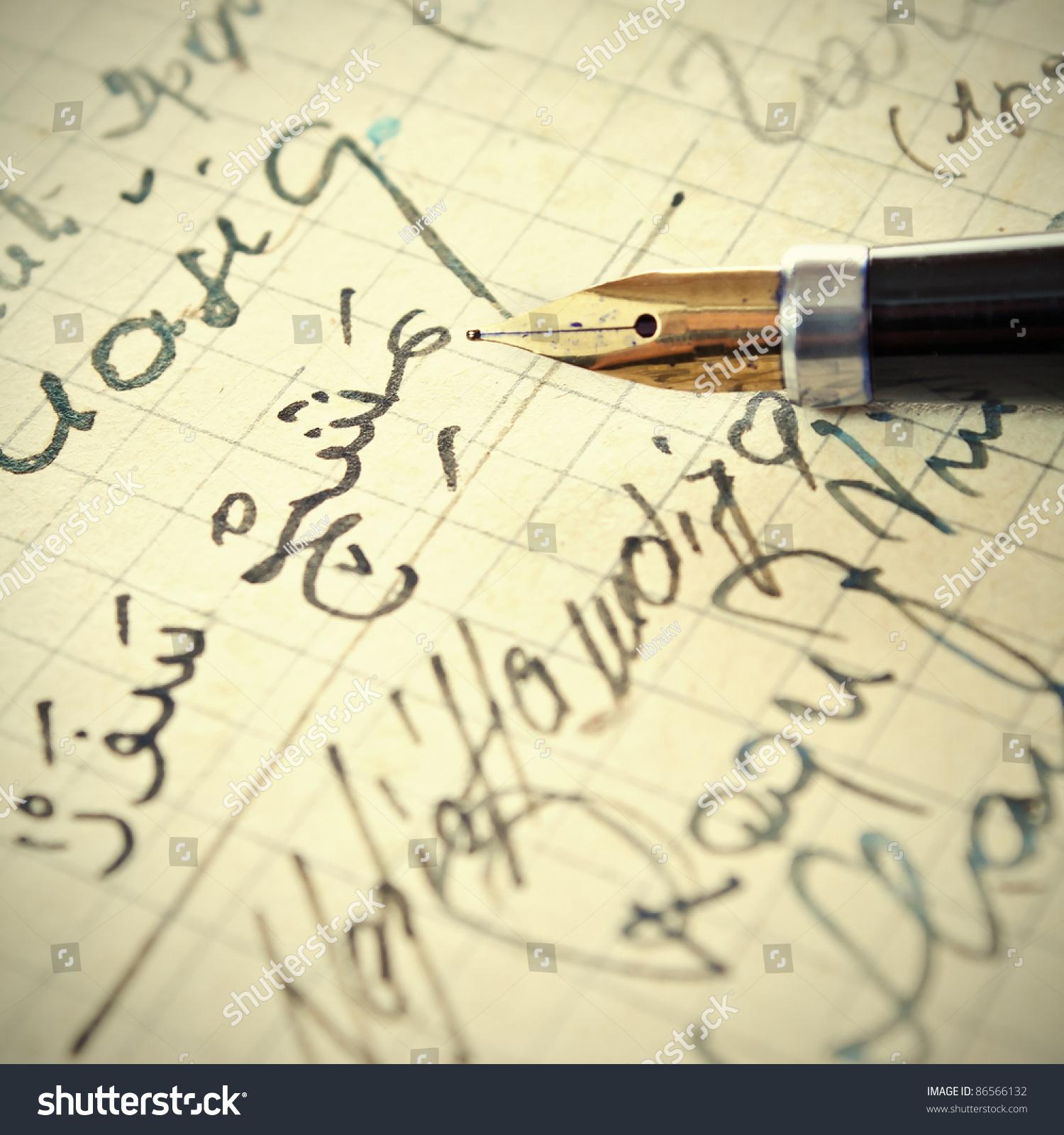 老手写阿拉伯语字母-背景/素材,复古风格-海洛创意()