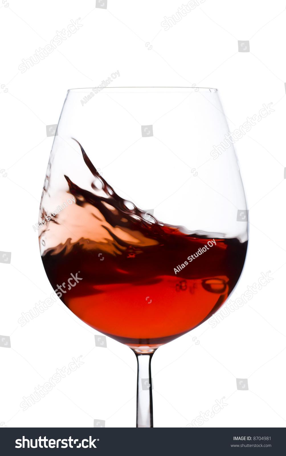 孤立和红酒杯在白色背景之间移动