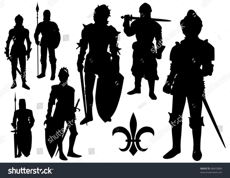 中世纪骑士的剪影-背景/素材,人物-海洛创意(hellorf)图片