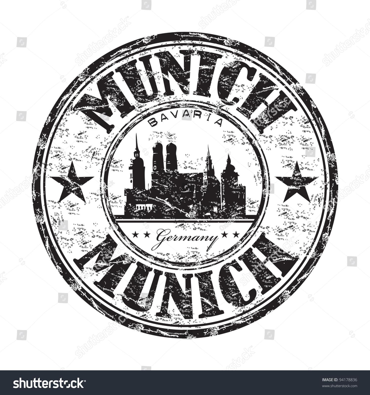 黑色难看的东西橡皮图章的名称从德国慕尼黑巴伐利亚的首都