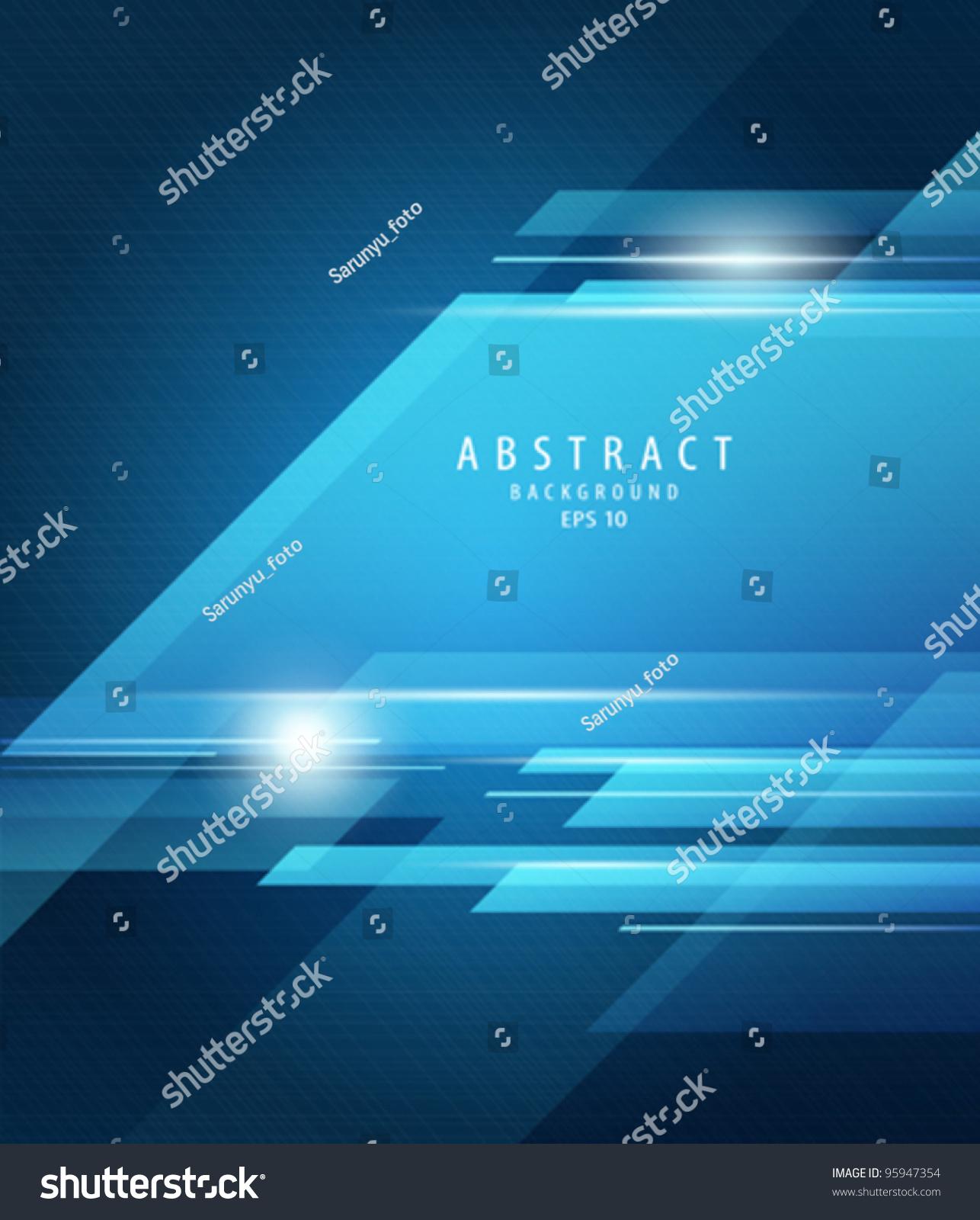 摘要向量蓝色透明背景说明-背景/素材